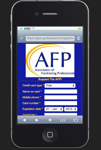 AFP Mobile Donate Screen