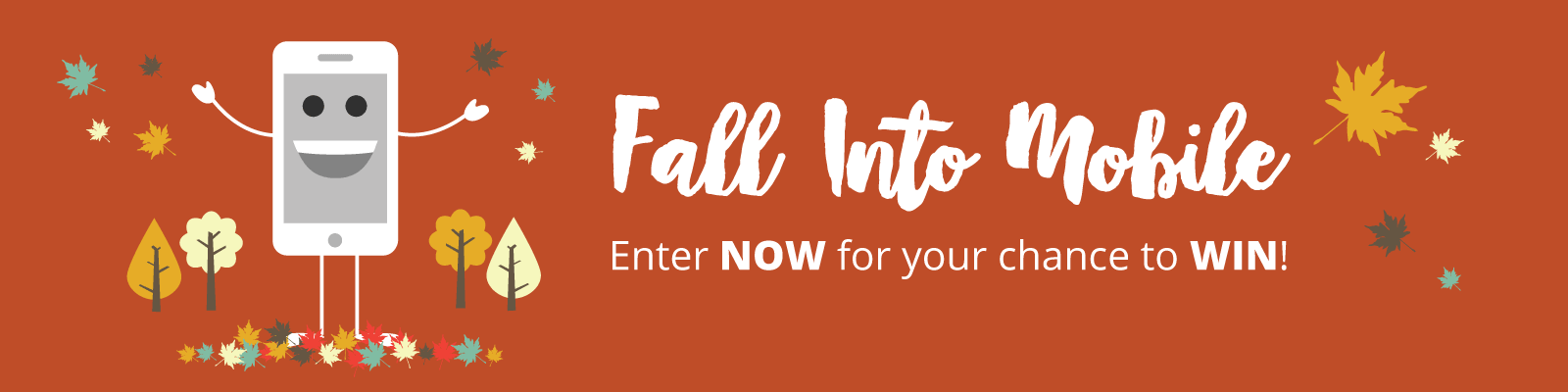 Fall Into Mobile Social Media Contest Banner