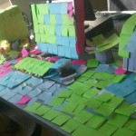 post its all over a desk